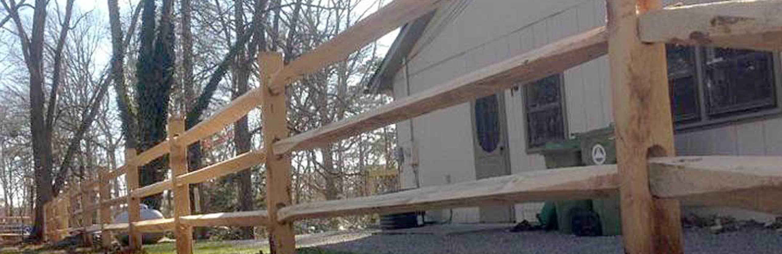 split rail example
